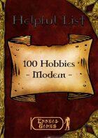 100 Hobbies - Modern