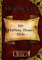 100 Halfling Names - Male