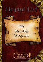 100 Starship Weapons