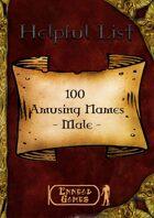 100 Amusing Names - Male
