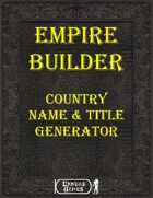 [EBK] Empire Buider - Country Names & Titles