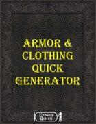 Armor & Clothing Quick Generator