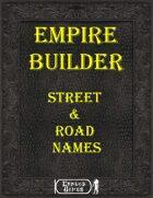 Empire Builder Kit - Street & Road Names