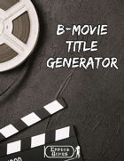 B-Movie Title Generator