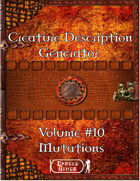 Creature Description Generator Volume 10 - Mutations