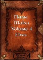 Name Maker Volume 4 - Elves