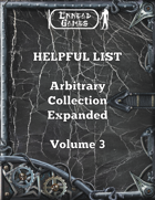 Helpful List Arbitrary Collection Expanded Volume 3