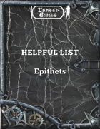 Helpful List - Epithets