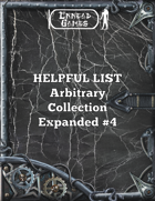 Helpful List Arbitrary Collection Expanded Volume 4