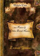 100 Potion & Other Drink Names