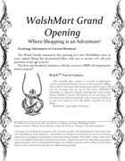 WalshMart Grand Opening