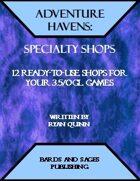 Adventure Havens: Specialty Shops