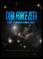 Task Force Zeta Volume One Data Card Set