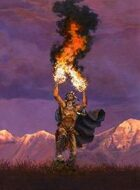 Infinite Images - Stock Illustration - Elemental Fire Shaman v2 - Quarter Page, RGB 150ppi