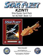 A Call to Arms: Star Fleet Book 1.2: Kzinti Ship Roster Card Pack