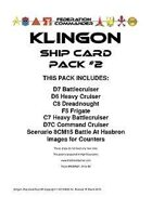 Federation Commander: Klingon Ship Card Pack #2