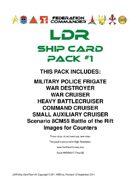 Federation Commander: LDR Ship Card Pack #1