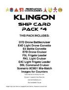 Federation Commander: Klingon Ship Card Pack #4