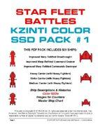 Star Fleet Battles: Kzinti Color SSD Pack #1
