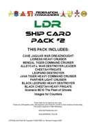 Federation Commander: LDR Ship Card Pack #2