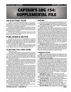 Captain's Log #54 Supplement