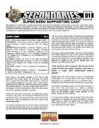 Secondaries #01 (M&M3e)
