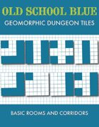 Old School Blue Geomorphic Tiles - Basic