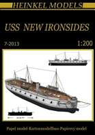 1/200 USS New Ironsides Waterline Paper Model