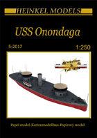 1/250 USS Onondaga Paper Model