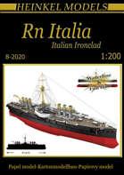 1200 Italian Ironclad Italia Paper Model