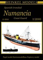 1/200 Spanish ironclad Numancia Full-hull Paper Model