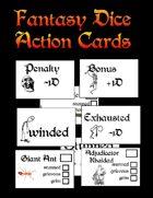 Fantasy Dice Action Cards