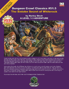 Free RPG Day 2007 – DCC: The Sinister Secret of Whiterock