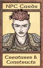 NPC Cards: Creatures & Constructs
