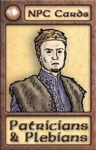 NPC Cards: Patricians & Plebians