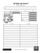 Vendai Character Sheets
