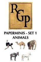 RGP004 - Paper Minis - Set 1: Animals