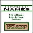 Deck O' Names Card Deck 1