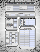Invulnerable RPG Form-Fill Character Sheet