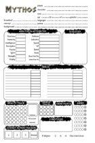Mythos: Character Sheet (EGS)