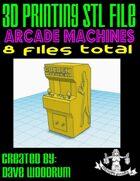 Arcade Machines (3D Printing STL Files)