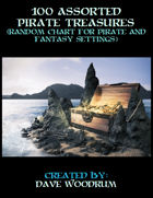 100 Assorted Pirate Treasures