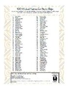 100 Wicked Pirate Ship Names