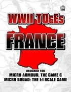 WWII TO&Es - France