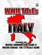 WWII TO&Es - Italy