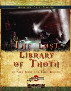 The Lost Library of Thoth (Pathfinder Second Edition)