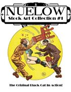 NUELOW Stock Art Collection #1: The Original Black Cat in Action!