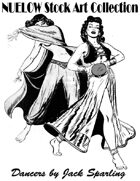 NUELOW Stock Art Collection:  Dancers by Jack Sparling