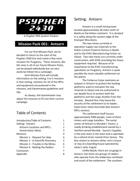 Psypher 2430 Mission Pack 001:  Antsern