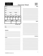 Psypher Shadows Character Sheet
